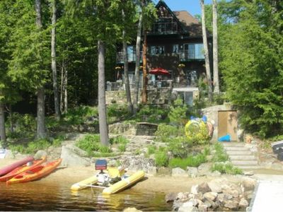 Photo for Beautiful  Beachfront Family Retreat | >5,500 Sq Ft of Lakefront Views