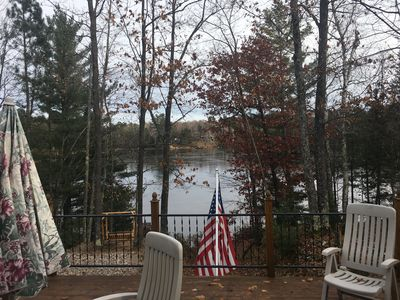 Beautiful northwoods getaway on private lake close to snowmobile trails and town