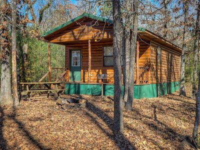 Photo for Eagle Egg cabin is a quaint 2 bedroom cabin nestled in the tall pines.
