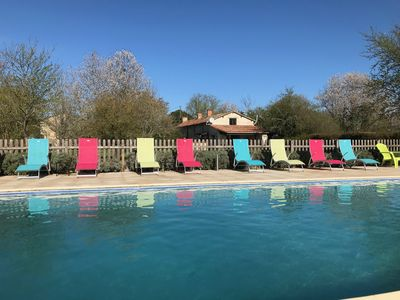 Photo for Coquelicot - two bedroom cottage in peaceful hamlet with heated pool