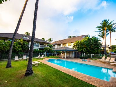 Photo for Beautiful 4 br Poipu kai villa w/AC . Easy walk to Beaches!