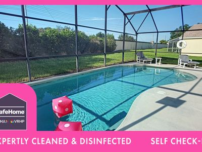 Photo for Private Pool   Separate Office area for Working Vacations   4 miles to Disney