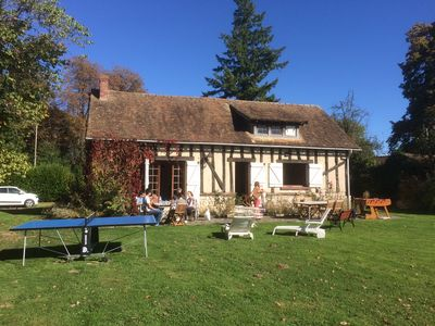 Photo for Country house with tennis and large garden (1 hour from Paris)