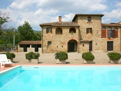 Photo for Old independent farmhouse  with pool and garden. Good value for money. Province of Arezzo