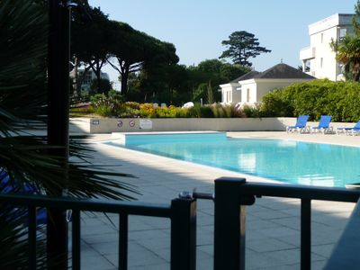 Photo for Nice T2 in Royal Park, with terrace overlooking the sea, the park and the pools