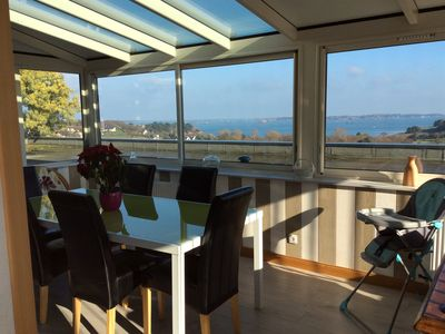 Photo for GITE LES AQUARELLES 1 BLEU - sea view heated indoor pool all year round