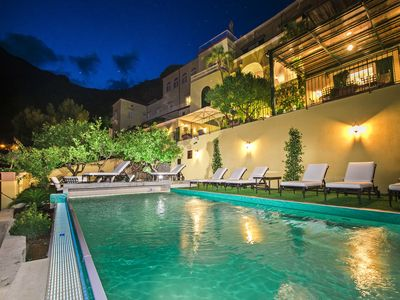 Photo for Villa Mimosa with Private Pool, Sea View, Air Conditioning, Positano Center