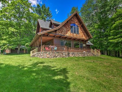 Photo for NEW! Lakefront Superior Cottage w/Deck & Boat Dock