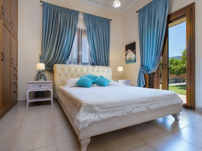 Photo for Stone built villa Anerocurù with ample gardens, BBQ, near Chania town and beach