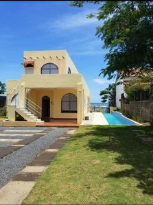 Photo for 3 bedroom 3 bath Oceanfront beach house with 20 meter lap pool - Nicaragua