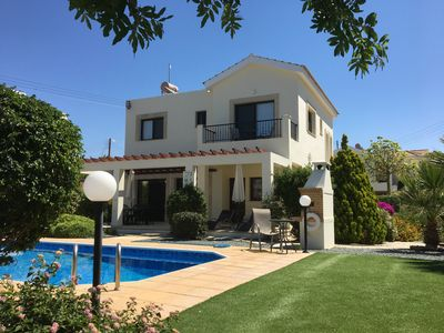Luxury 3 bedroom villa with private heated pool and beautiful gardens.