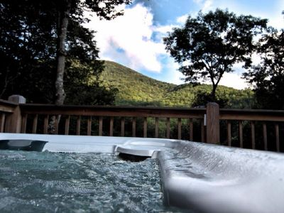 Photo for View, Hot tub, Wi-Fi, and gas logs make this 2 bedroom cabin a perfect retreat!