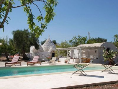 Photo for wood stove and barbecue are available, pool and private garden