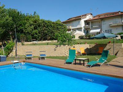 Photo for Wonderful private villa with WIFI, private pool, A/C, hot tub, TV, balcony and washing machine