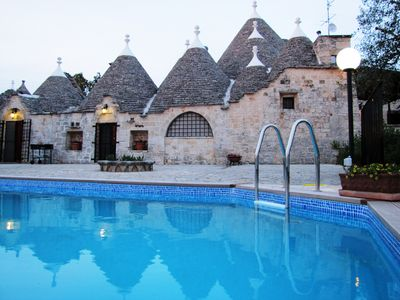 Photo for Charming 4 Bedroom trullo with private pool, walking distance to town, free wifi