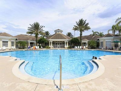 Beautiful heated large salt water pool is open 8 a.m. until 10 p.m.
