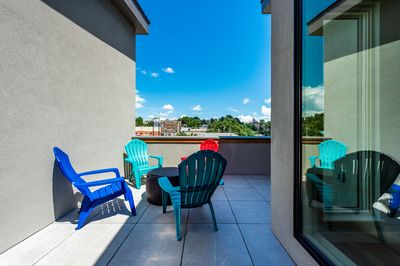 Roof Deck - The townhome's most stellar feature: a roof deck with downtown Asheville views.