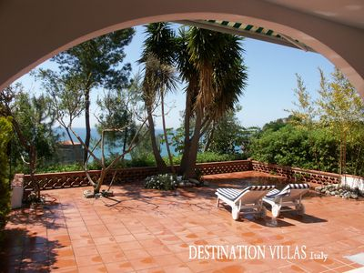 Photo for Splendid Ada villa with panoramic terrace overlooking the sea