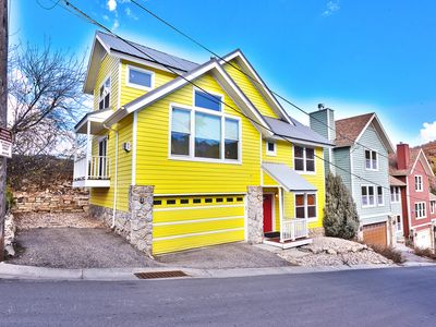 Photo for Steps to Main St. w/ DV SKI SLOPE VIEWS & 3 ensuite MBRs & HOT TUB & 2-car Garag