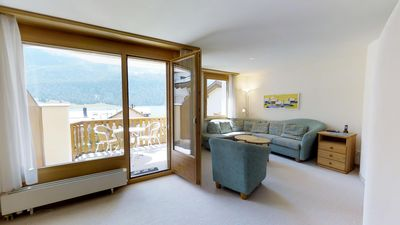 Photo for Attractive and bright 3-bedroom apartment with beautiful mountain and lake view.