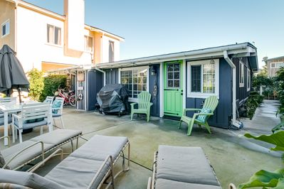 Patio - Another bright green door connects you to a private oasis of a backyard.