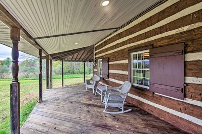 Spend time on the covered front porch.