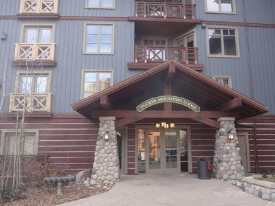 Tucker Mountain Lodge. Our unit is above the entrance.