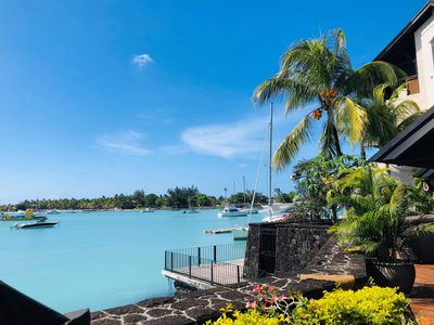Photo for 3 bedroom apartment sleeps 6 feet in the water Grand Baie Mauritius