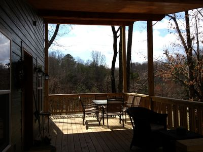 Photo for 2013 Mountain Home - 15 Min To Asheville! Great Deck, Views And Spiral Stairs