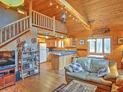Photo for Remote Pentwater Cabin w/Wooded Views Near Town!
