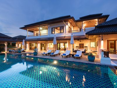 Photo for Luxury 6-bedroom pool Villa with scenic views in exclusive Laguna Phuket
