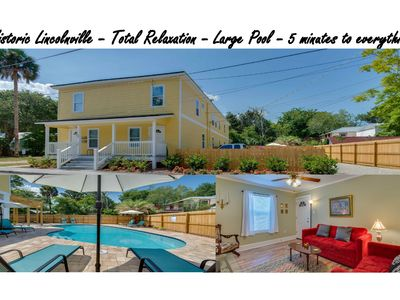 Photo for Historic Downtown, Heated  Pool April-Oct,   Immaculately kept, Great Back Yard