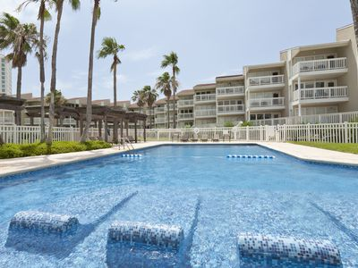 Photo for 3 Bedroom Condo Close to the Beach, Unique Pool! Close to Schlitterbahn Waterpark & More!