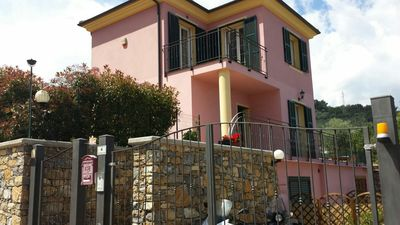 Photo for GREAT APARTMENTS IMPERIA IN VILLA SURROUNDED BY GREEN HILL LIGURE