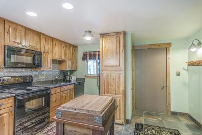 Kitchen - Kitchen- Beautifully upgraded kitchen with full size appliances and rolling butcher block.