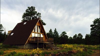 Photo for A-Frame Cabin with loft and views on 1.5 acres in the Coconino National Forest