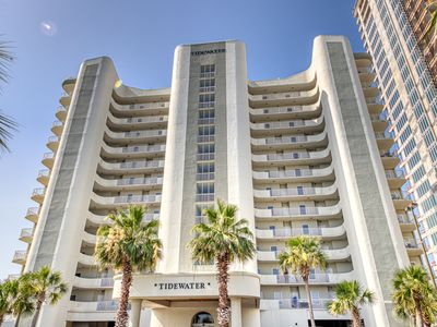 Photo for Gulf front, penthouse condo w/ a shared pool, hot tub, & sauna - on the beach