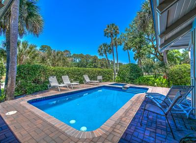 Pool Area with Golf Course Views at 4 Pyxie