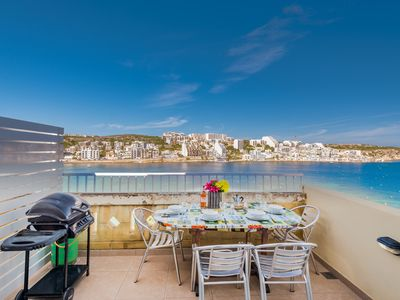 Photo for GetawaysMalta - Blue Harbour Seafront Self-catering Holiday Penthouse St Paul's