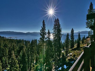 View of Lake Tahoe From the Deck