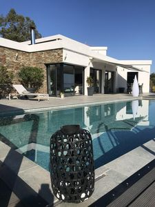 Photo for LES ISSAMBRES SUPERB CONTEMPORARY ARCHITECT VILLA FULL SEA VIEW POOL