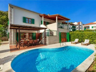 Photo for Spacious Villa at Stunning Island of Hvar with Private Pool