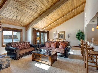 Photo for Lower Deer Valley 3 Bdrm 3 Bath Condo with Ski Room, Hot Tub - Close to Ski