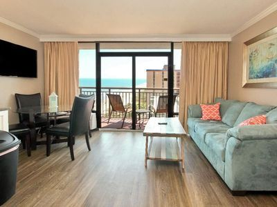 Photo for Stay on the beach at this ocean front condo!