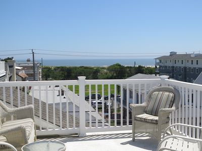 Photo for Updated 3 BR  1 BLK From Beach Rooftop Ocean View Deck  LOCATION!  4 BEACH TAGS