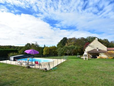Photo for Renovated Périgord house with beautiful view, covered terrace and private swimming pool
