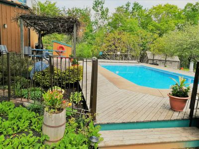 Heated Salt Water Pool and excellent BBQ area.