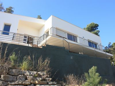 Photo for New & modern villa with seaview from every room facing the sea!