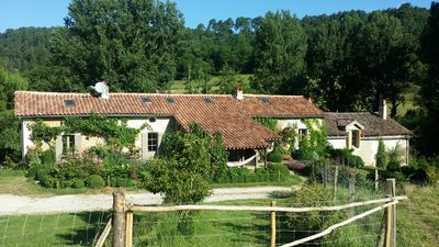 Photo for Tranquil transformed millhouse set in 4 acres of stunning Dordogne countryside.