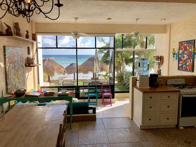 Photo for Beautifully decorated,  Ground Floor 2BR Condo - A/C, WiFi & Kayaks, Beachfront